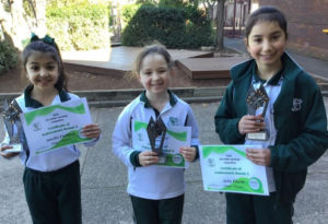 Our Lady of Fatima Kingsgrove Public Speaking Competition winners